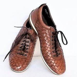 Italy Leather Shoe Men's 8M Brown Paul Fredrick